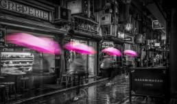 Pink Umbrella Degraves Street Melbourne