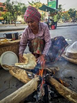 Cambodian street vendor portrait